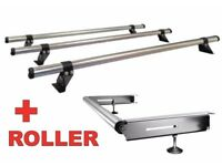 Rhino delta roof bars with roller and 4 load stops for bipper, nemo or fiorino