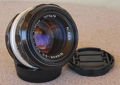 Nikon Nikkor 50mm F1.4 S C Manual focus Lens Vintage 1974