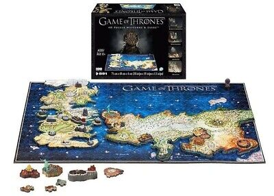 Game of Thrones 4D Puzzle of Westeros & Essos 891-Pieces](4d Puzzle)