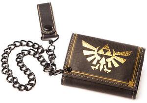 Zelda Geldbeutel Nintendo Geldbörse mit Kette Legend Of Zelda Triforce Wallet