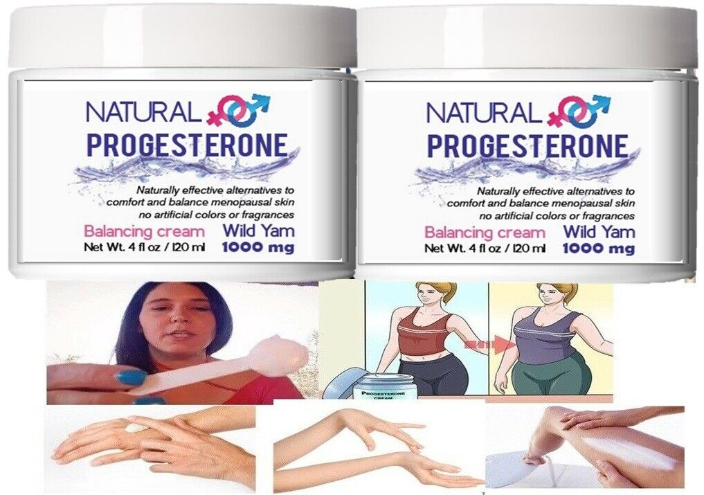 Natural Progesterone Skin Cream - 4 oz UNSCENTED with 1000 MG OF WILD YAM USP 6