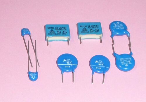 Lot of 5 25P011 Draloric 3300pF at 440 VAC High Quality Disc Capacitors