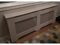 Radiator covers with brass fittings attached - great condition