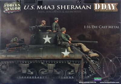Forces of Valor Unimax 1:16 Die Cast Metal US M4A3 Sherman Model Kit 85007