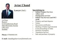 Legal Services in Indian Legal Fields/Immigration Services