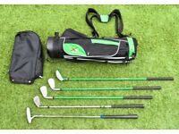 Superb XQ Max Kids Golf Set 5 Clubs Plus Bag with Stand Good condition - RH age 9 - 13