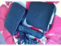 Virgin tv box & modern