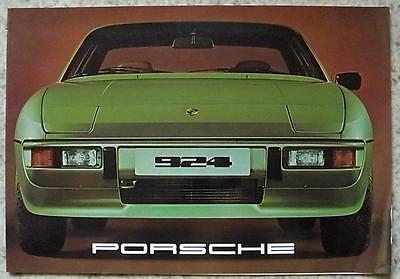 PORSCHE 924 LF Car Sales Brochure c1977 #1125.20
