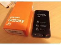 SAMSUNG GALAXY J5 UNLOCKED BRAND NEW CONDITION WARRANTY & SHOP RECEIPT