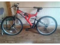 "Trax adults mountain bike bicycle. 18"" frame. 26"" wheels. Working Bike Ready to ride away"