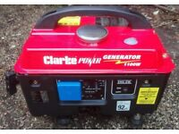 Lightweight Portable Quiet Petrol Generator UK Mains 240v 1.1kW