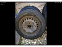 4 x Steel Wheels 4 x Hub caps 20 x wheel Nuts 3 x Ford Alloys