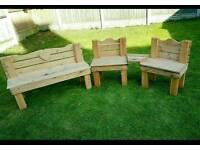 Love seat and bench