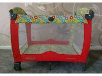 Red graco travel cot