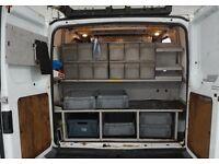 Transit van racking / van internal racking. Removed from van, ready for collection.
