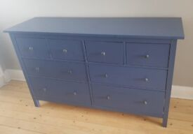Blue 8 chest of drawers HEMNES