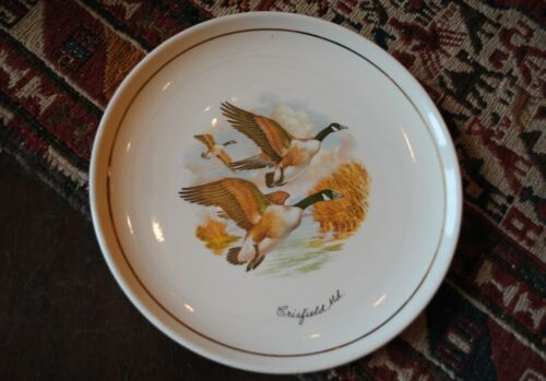 VINTAGE CRISFIELD MARYLAND GEESE PLATE CONRAD CRAFTERS