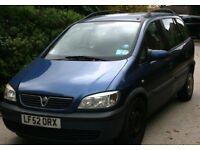 Vauxhall/Opal 7 seater Zafira 1.6 Comfort 2002