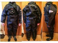 ROBIN HOOD ROHO COMERCIAL MEMBRANE DIVING DRY SUIT & ROHO THINSULATE UNDER SUIT - NEW NEVER USED