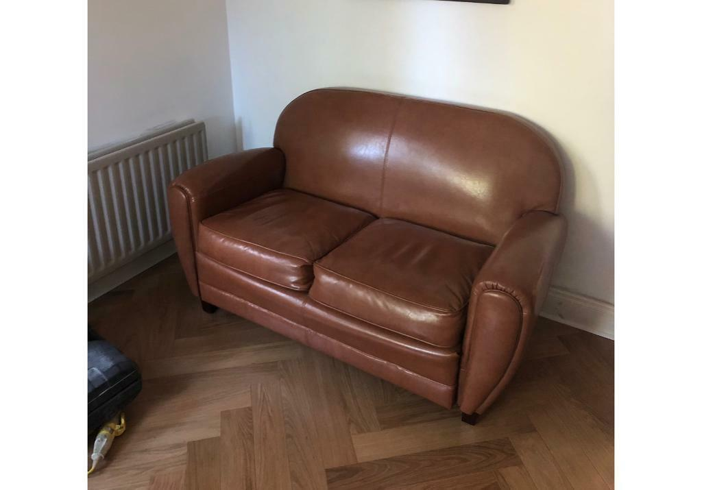 Pleasant 2 Seater Leather Sofa Two Seater Retro Vintage Tan Brown In Belfast City Centre Belfast Gumtree Lamtechconsult Wood Chair Design Ideas Lamtechconsultcom