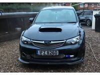 Subaru Impreza sti 330s hatchback 2009 cat d damaged salvage spares or repairs project non runner
