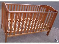 Lovely Pine Cot with 3 Levels