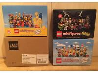 Collection of 4 brand new sealed discontinued Lego Disney, Monsters and Simpsons Minifigures