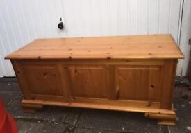 **SOLD** Solid Pine ottoman