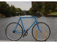 Retro Mens Raleigh Single Speed Road Racing Bike 62cm Steel Frame Vintage BSA