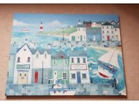 Seaside scene wall canvas print 4ft x 3ft