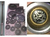 Texas Power Bar + York Weights