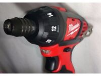 Milwaukee 2401-20 M12 v Single Speed Sub Compact Screwdriver Tool Only 2019