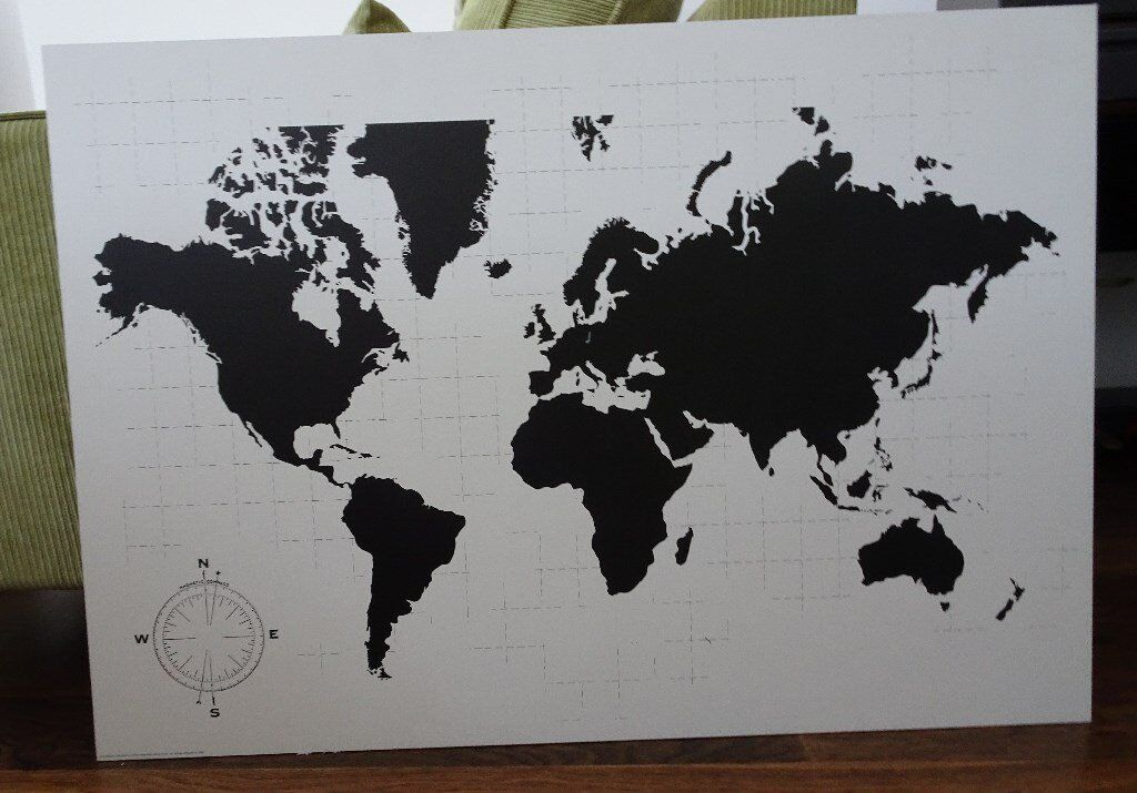 World map picture not used in islington london gumtree world map picture not used gumiabroncs Gallery