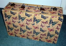 Brand New Small Fabric Lined Wooden Hard Case for Sale