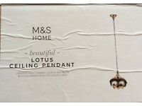 Marks and Spencer, Stunning Brass petal cut ceiling pendant.