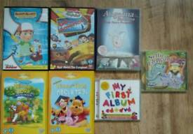 Childrens dvds & cds (Winnie the Pooh, Nursery Rhymes & others)
