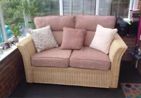 2 Seater Wicker Conservatory Settee