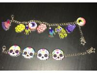 Zombie Lover and Sugar Skull bracelets
