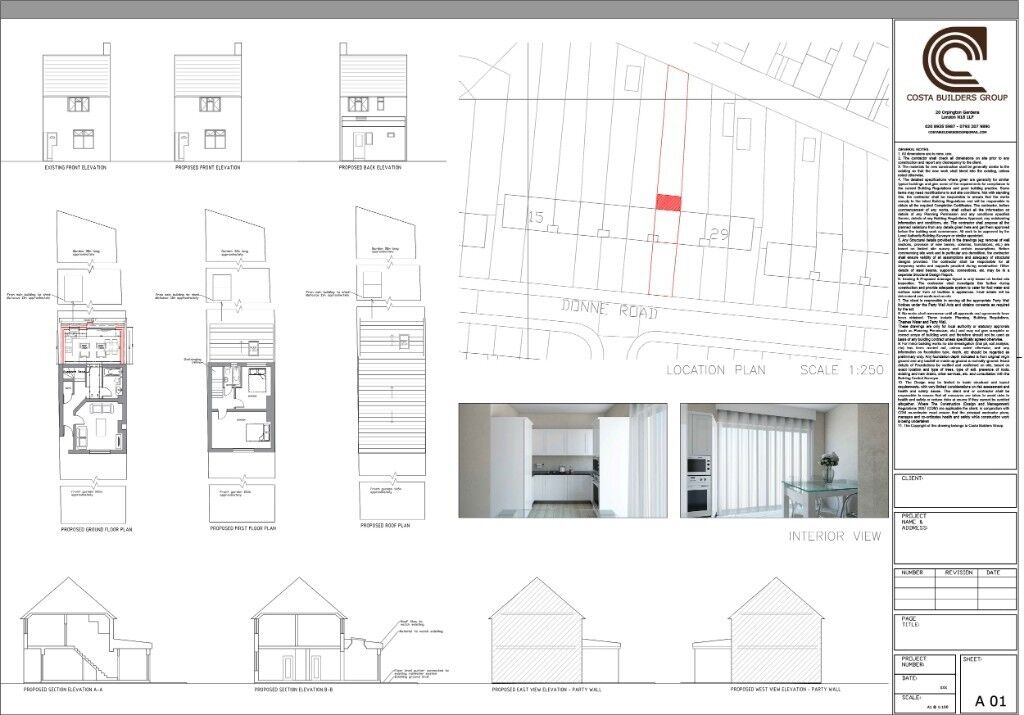 House Extension Drawings ONLY £599 - Rear Extension - Loft