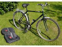 "Probike Voyager men's town/hybrid bike, 21"" frame, 18 gears, 700c wheels, rear rack & panniers"