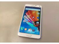 WHITE Samsung GALAXY NOTE 4 UNLOCKED TO ALL NETWORKS 3 WEEKS OLD BRILLIANT CONDITION + EXTRA CASE