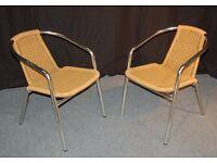 Garden Bistro Chair sand wicker / aluminium