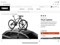 Thule UpRide cycle carriers