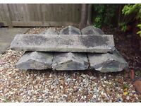 6x large reclaimed coping stones