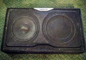 "Hertz Car Audio EBX F25 300W 10"" Slim Flat Subwoofer Box with 12"" Passive Radiator - Good Condition"