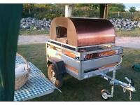 Copper wood fired pizza oven catering trailer for sale
