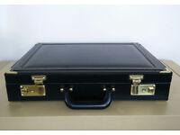 Skyflite - Black Leather Attache Case