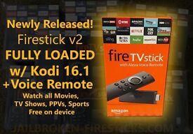 Amazon Fire Stick With KODI 17.3 MOVIES.SPORTS.BOX SETS.TVSHOWS