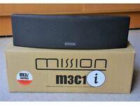 MISSION CENTRE SPEAKER M3C1i - HOME CINEMA SPEAKER - BLACK, BOXED AS NEW