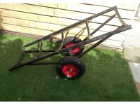 Carpet Barrow Heavy Duty Carpet Stand Trolley 1.5m x .5m